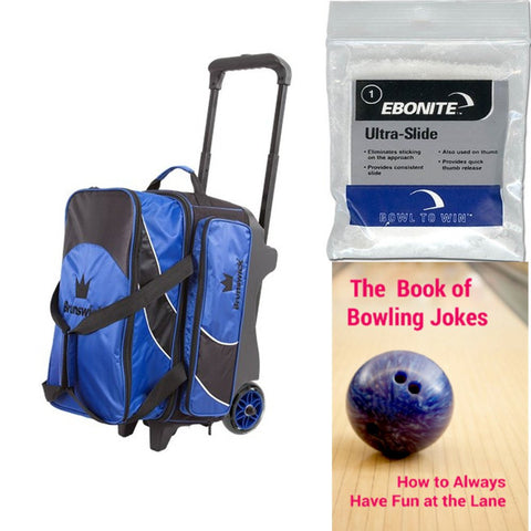 Brunswick Edge Double Roller Blue Bowling Bag