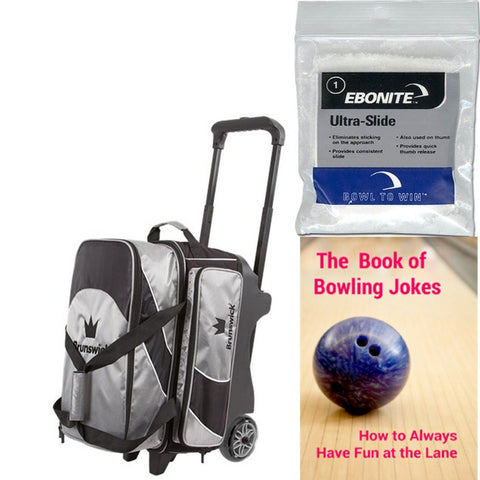 Brunswick Edge Double Roller Silver Bowling Bag
