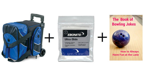 Bowling Bags - Brunswick Edge Single Roller Blue + 2 Free Gifts