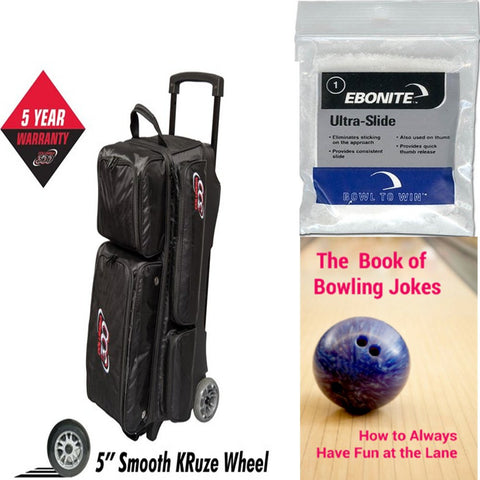 Columbia Icon 3 Ball Roller Black Bowling Bag