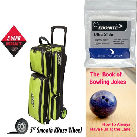 Columbia Icon 3 Ball Roller Lime Bowling Bag