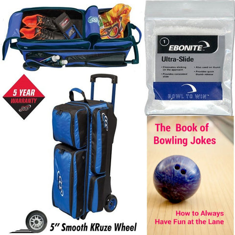 Columbia Icon 3 Ball Roller Royal Bowling Bag