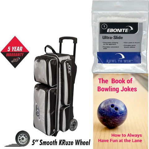 Columbia Icon 3 Ball Roller Silver Bowling Bag