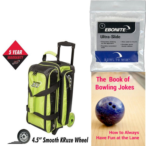 Columbia Icon Double Roller Lime Bowling Bag