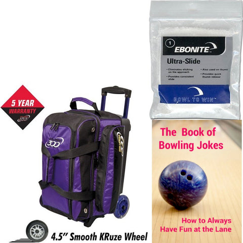 Columbia Icon Double Roller Purple Bowling Bag