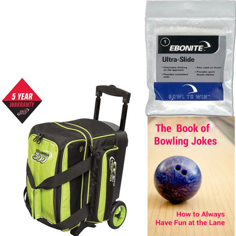 Columbia Icon Single Roller Lime Bowling Bag