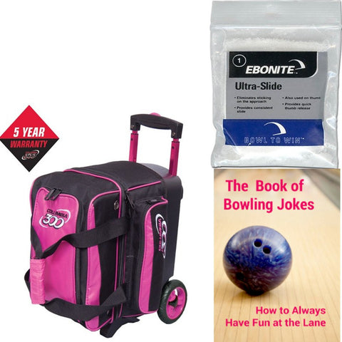 Columbia Icon Single Roller Pink Bowling Bag