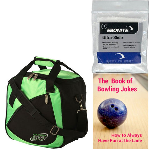 Columbia Team C300 Single Tote Green Bowling Bag