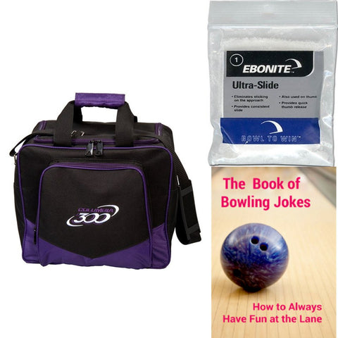Columbia White Dot Single Tote Purple Bowling Bag