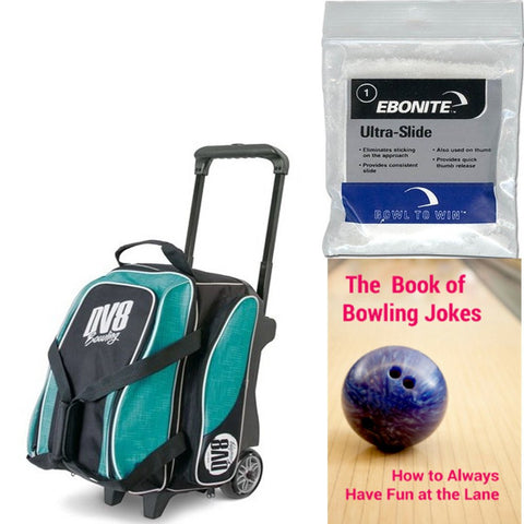 DV8 Circuit Double Roller Teal Bowling Bag