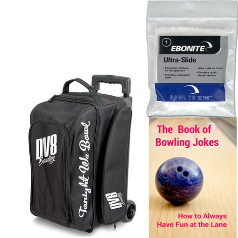 DV8 Freestyle Double Roller Black Bowling Bag