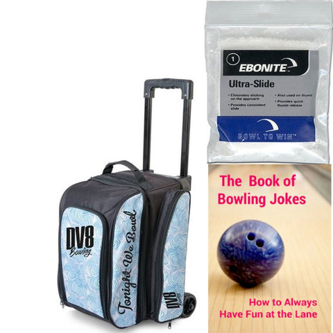DV8 Freestyle Double Roller Blue Swirl Bowling Bag