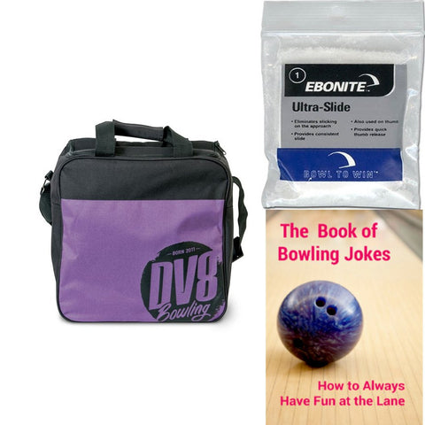 DV8 Freestyle Single Tote Purple Bowling Bag