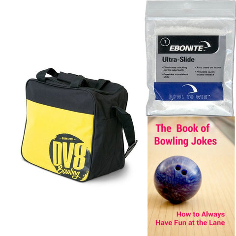 DV8 Freestyle Single Tote Yellow Bowling Bag