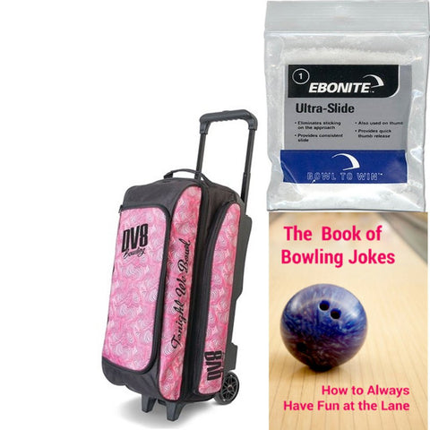 DV8 Freestyle Triple Roller Pink Swirl Bowling Bag