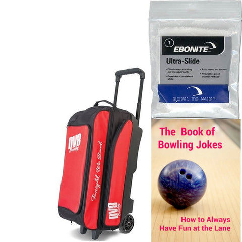 DV8 Freestyle Triple Roller Red Bowling Bag