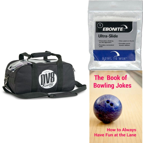 DV8 Tactic Double Tote No Pouch Black Bowling Bag