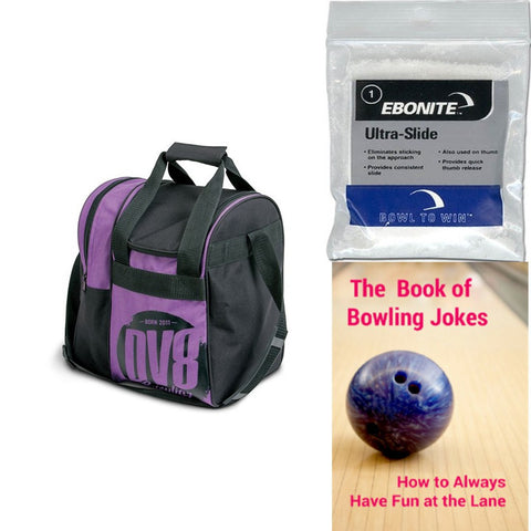 DV8 Tactic Single Tote Purple Bowling Bag