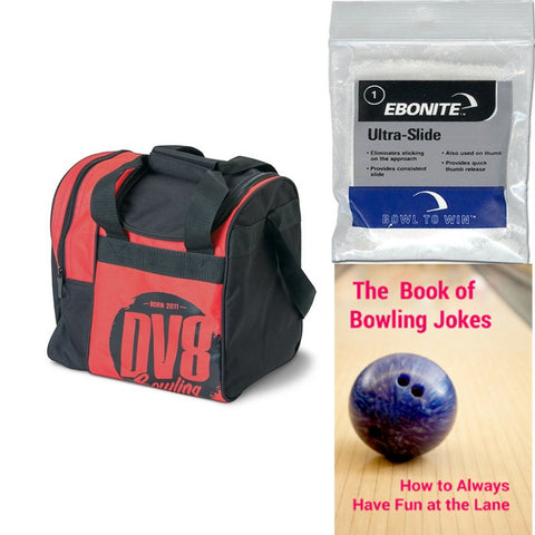 DV8 Tactic Single Tote Red Bowling Bag
