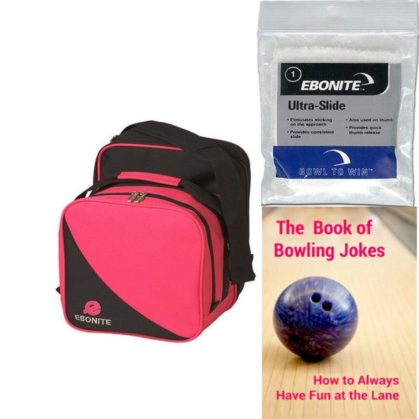 Ebonite Compact Single Tote Pink/Black Bowling Bag