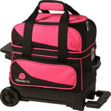Bowling Bags - Ebonite Transport 1 Ball Roller Pink/Black + 2 Free Gifts