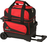 Bowling Bags - Ebonite Transport 1 Ball Roller Red/Black + 2 Free Gifts