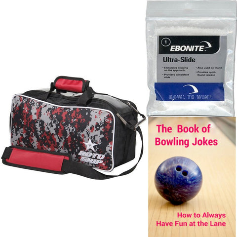 Roto Grip 2 Ball Tote Black/Red Camo Bowling Bag