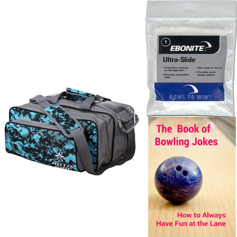 Roto Grip 2 Ball Tote Plus Grey/Blue Camo Bowling Bag
