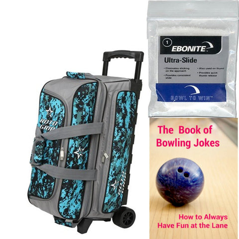 Roto Grip 3 Ball Roller Black Grey/Blue Camo Bowling Bag