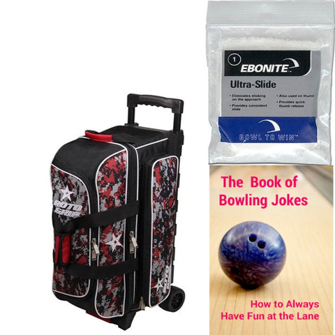 Roto Grip 3 Ball Roller Black/Red Camo Bowling Bag