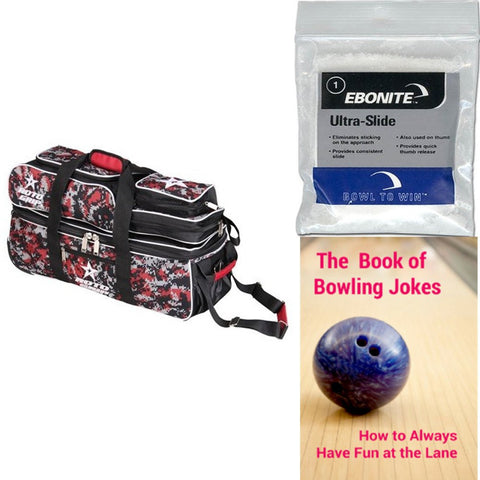 Roto Grip 3 Ball Tote/Roller Black/Red Camo Bowling Bag