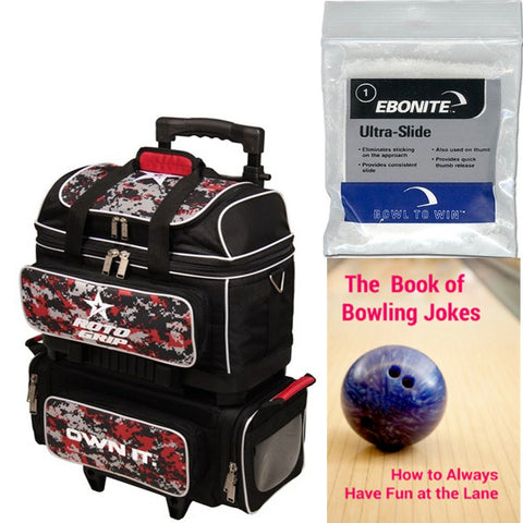 Roto Grip 4 Ball Roller Black/Red Camo Bowling Bag