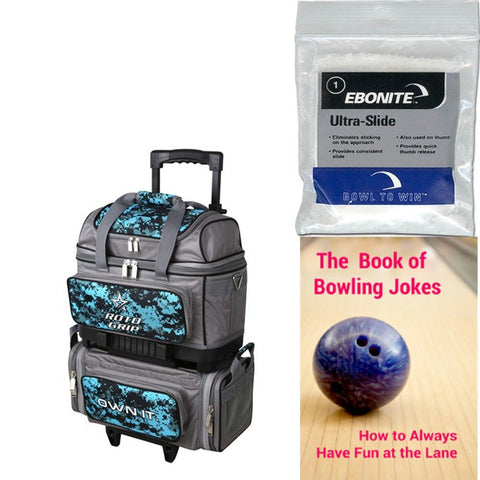 Roto Grip 4 Ball Roller Grey/Blue Camo Bowling Bag