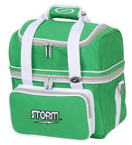 Bowling Bags - Storm 1 Ball Flip Tote Green/White + 2 Free Gifts