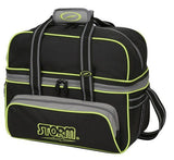 Bowling Bags - Storm 2 Ball Tote Deluxe Black/Grey/Lime + 2 Free Gifts