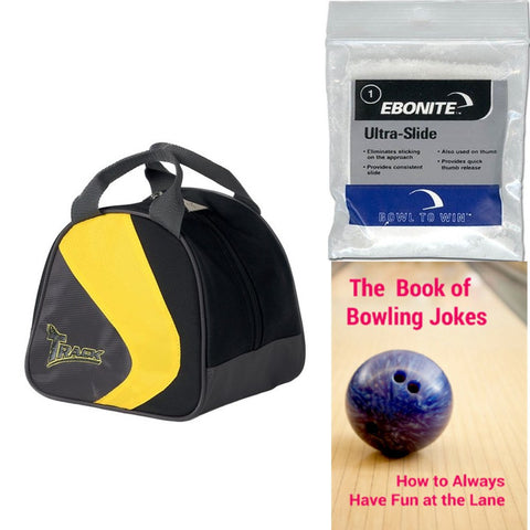 Track Plus One Yellow/Black/Grey Single Tote Bowling Bag