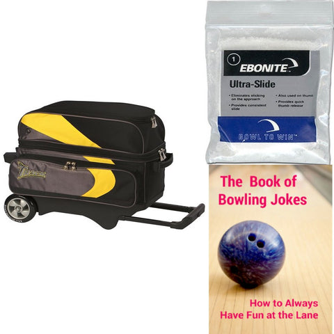 Track Premium Player 2 Ball Roller Yellow/Grey Bowling Bag