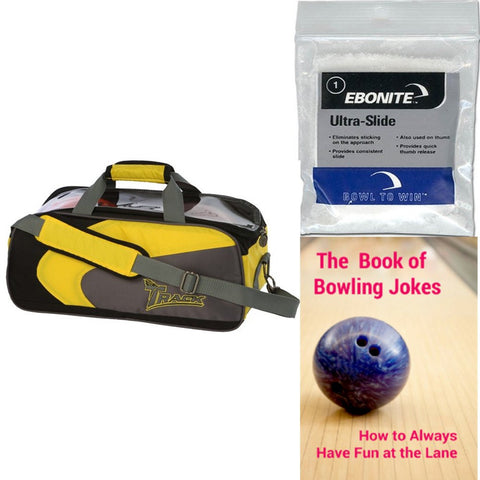 Track Premium Player 2 Ball Tote Yellow/Grey Bowling Bag