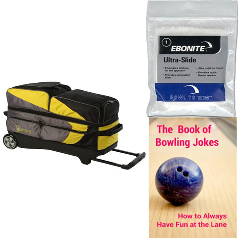 Track Premium Player 3 Ball Roller Yellow/Grey Bowling Bag