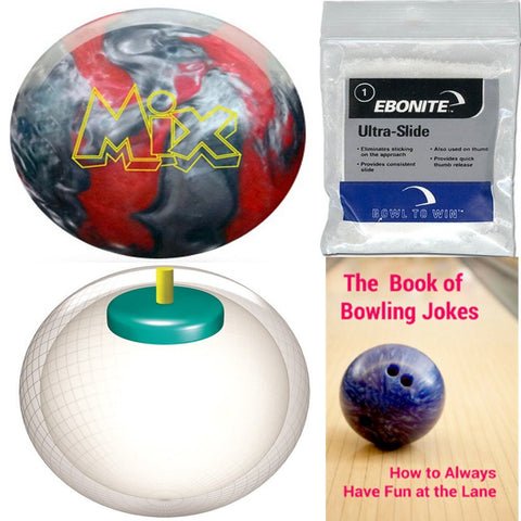 Storm Mix Urethane Red/Silver Bowling Ball