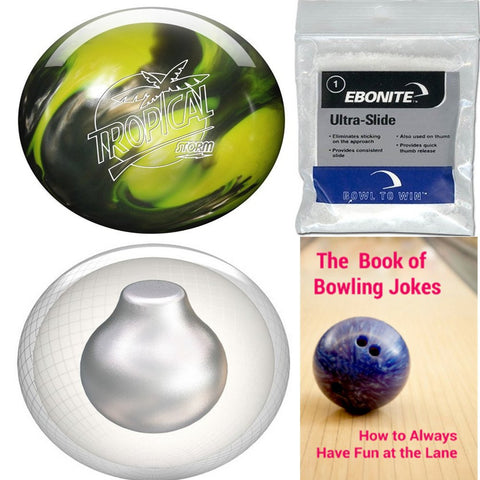 Storm Tropical Storm Yellow/Silver Bowling Ball