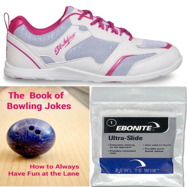 KR Strikeforce Women's Spirit Lite White/Fuchsia Bowling Shoes