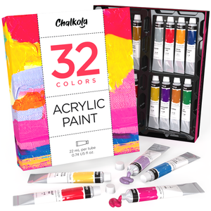 Acrylic Premium Artist Paint, 22ml Tubes - Set of 32