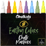 1mm Extra Fine Nib Chalk Markers, Classic Colors | Pack of 8