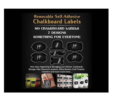 80 Chalkboard Labels for Mason Jars, Organize Kitchen & Pantry