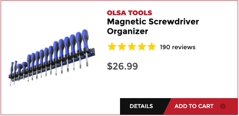 Olsa Tools Screwdriver Organizer
