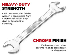 Strong Slim Profile Wrenches