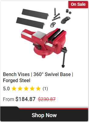 Professional Heavy-Duty Bench Vise