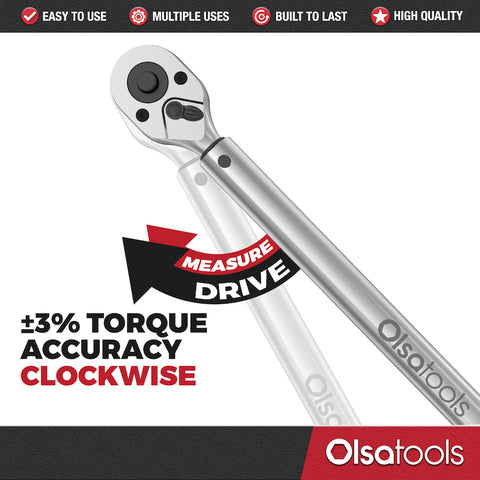 Professional 3% Accurate Click Torque Wrench