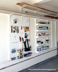 DIY Peg Board Shelve Units